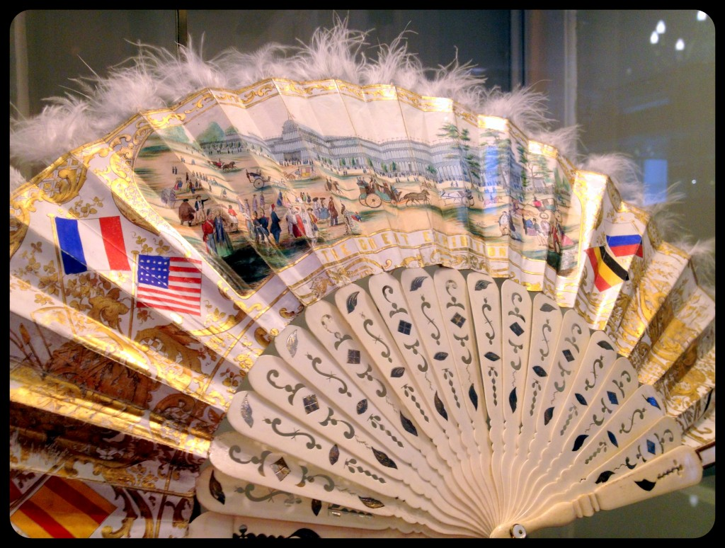 Fan from the Great Exhibition at London's Crystal Palace, 1851.