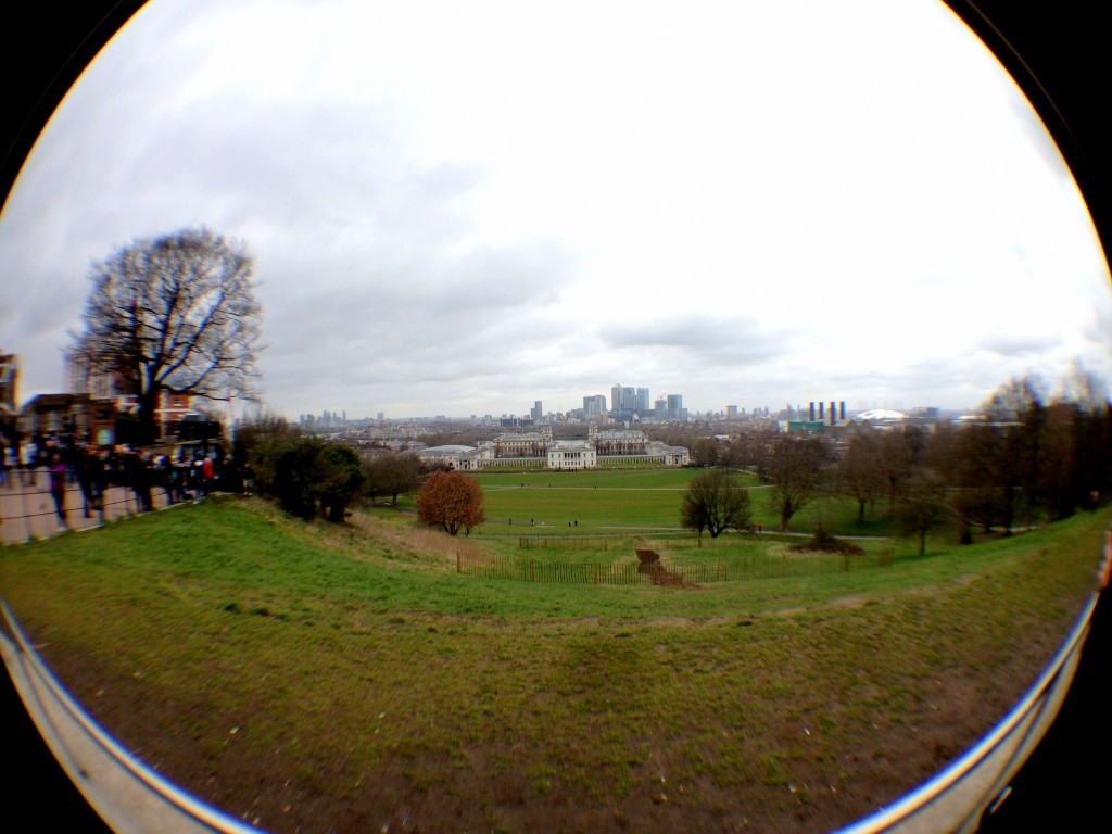 From the top of Greenwich Park.