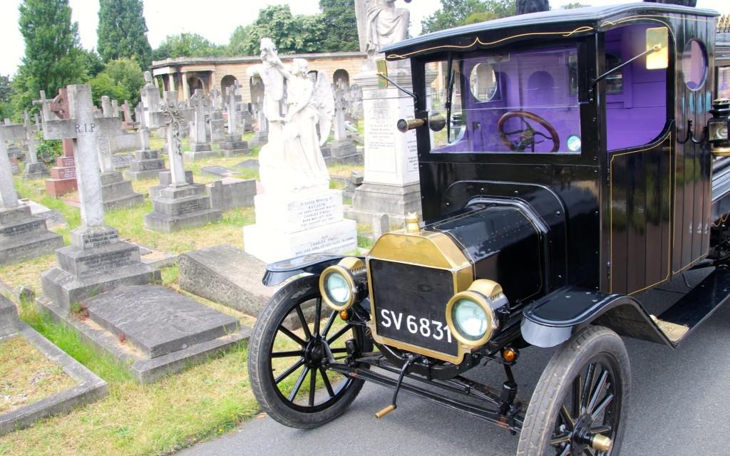 Brompton Cemetery Vintage Hearse