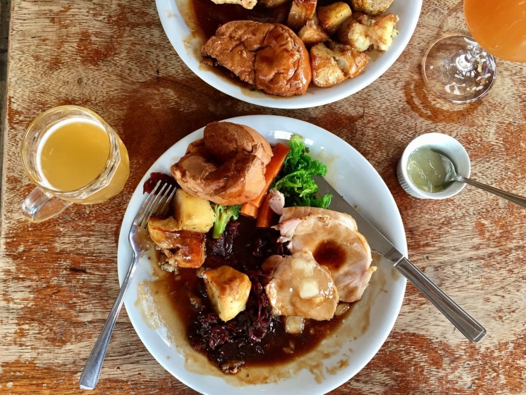 Sunday roast Crown & Anchor craft beer pub Brixton