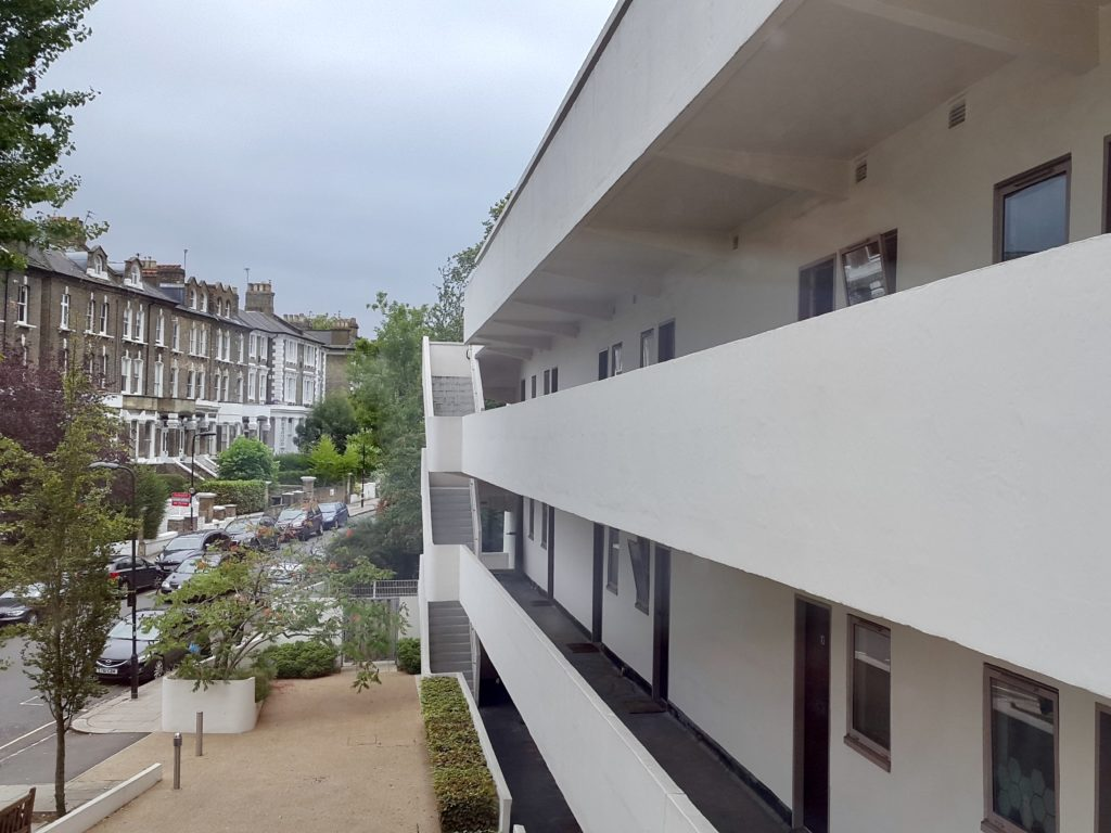 View from the deck of the Isokon Building, Lawn Road Flats