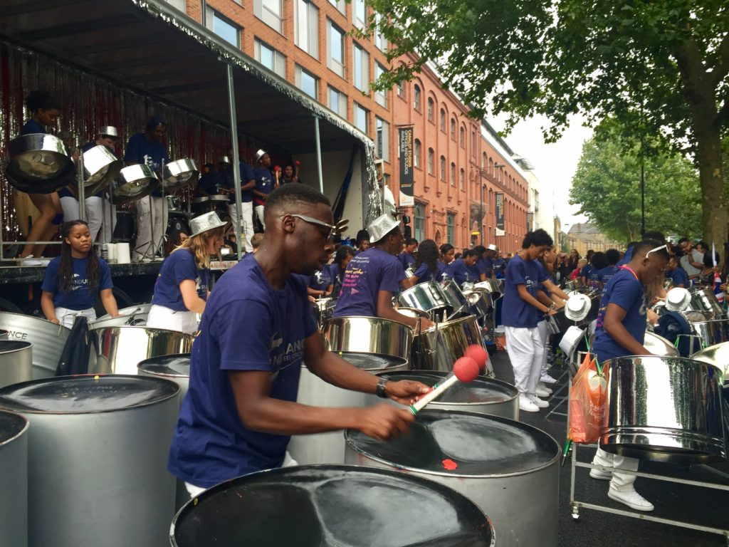 Panorama Notting Hill Carnival steel drum band performers