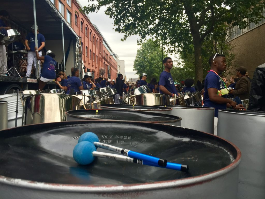 Panorama Notting Hill Carnival steel drums
