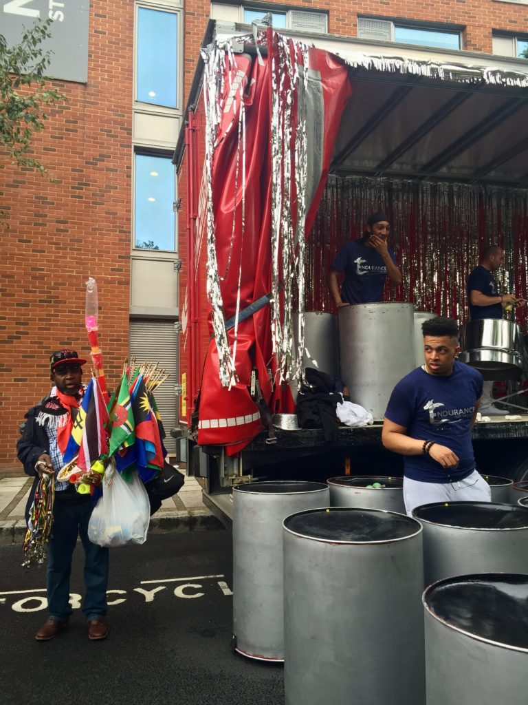 Panorama Notting Hill Carnival steel drum performer