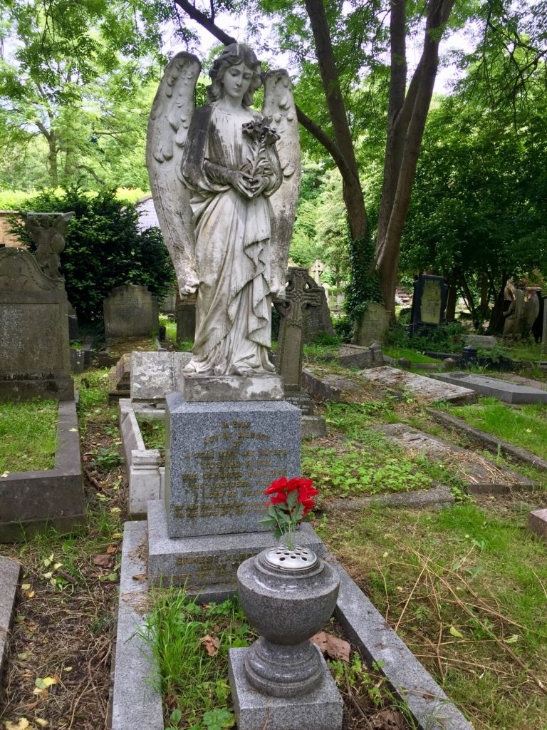 Highgate Cemetery East Angel Tomb