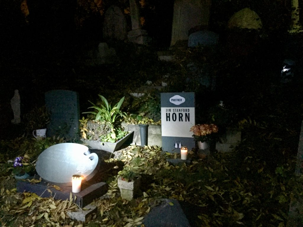 Highgate Cemetery East night tour Horn Penguin