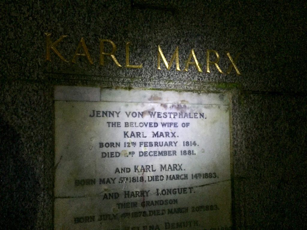 Highgate Cemetery East Karl Marx night tour