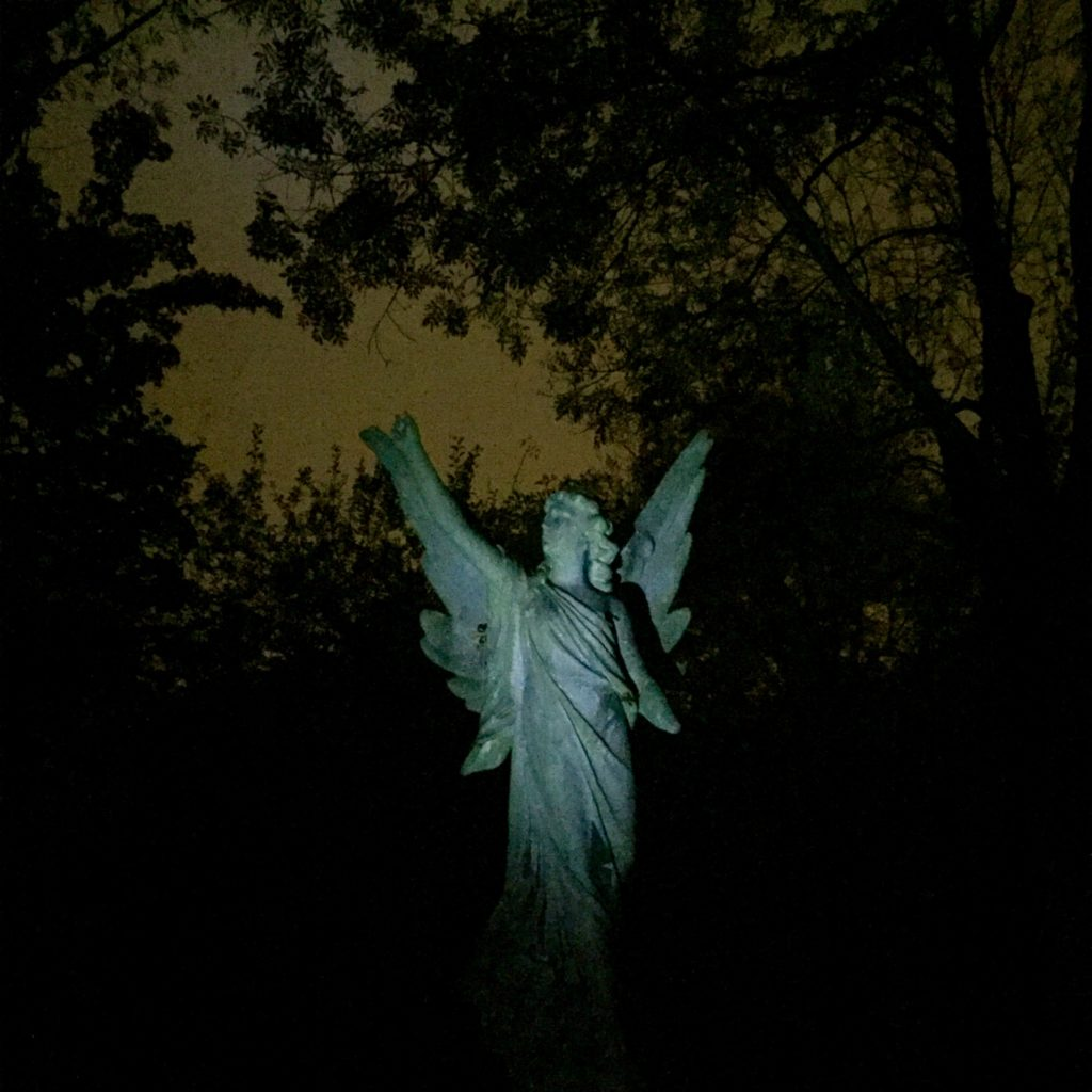 Highgate Cemetery East night tour angel