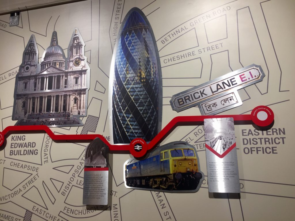 Mail Rail map, London