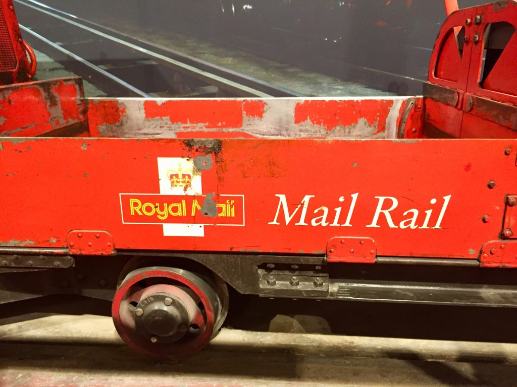 Mail Rail repair train, London