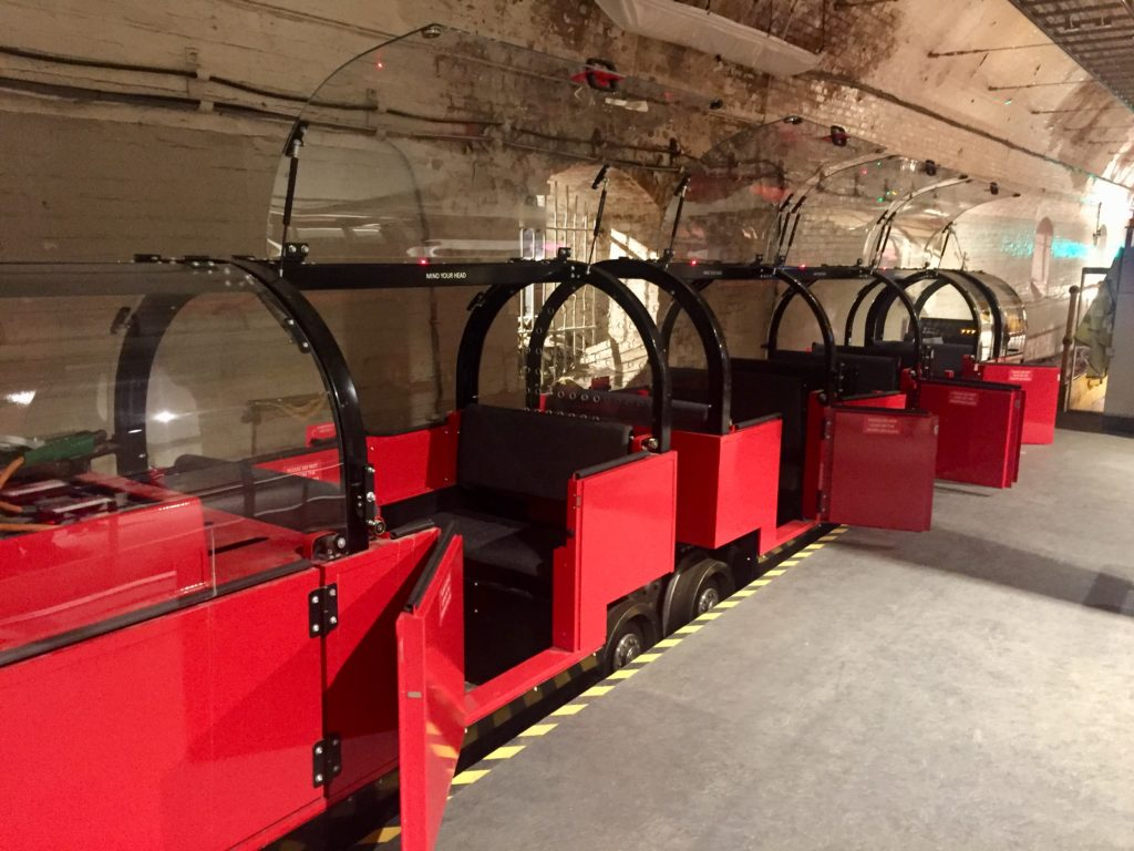 Mail Rail train carriages, London