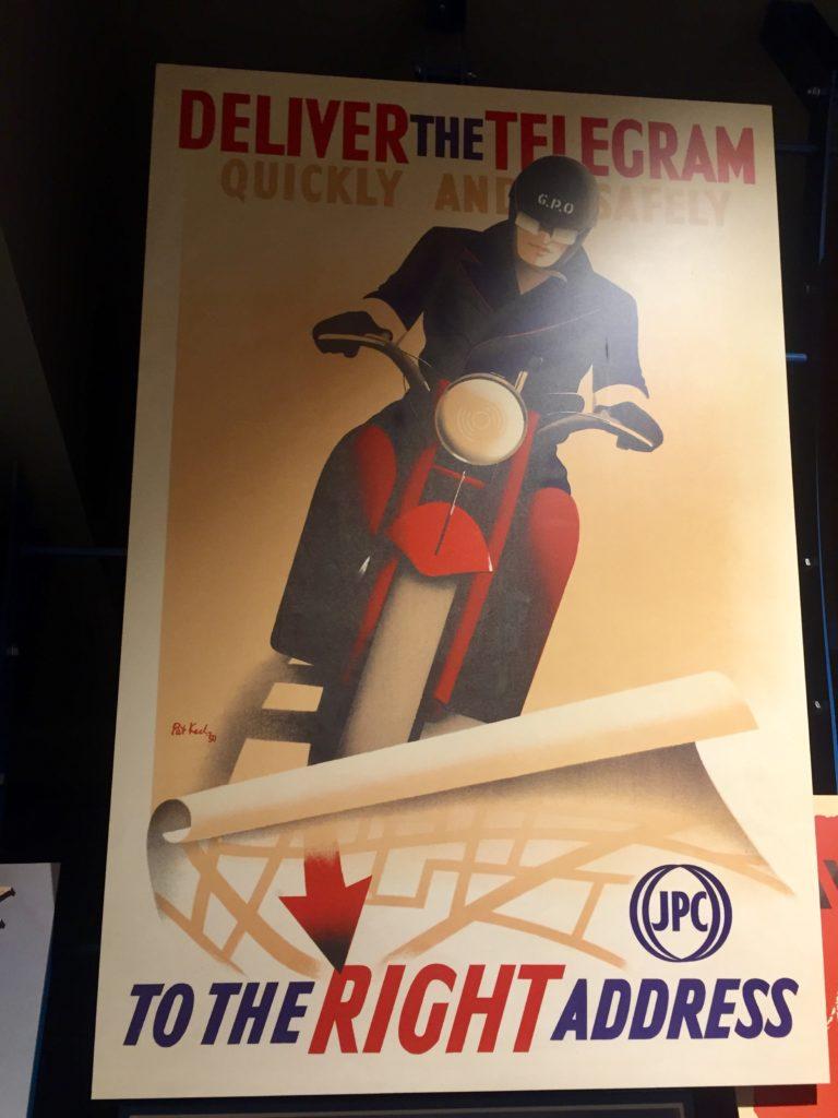 Postal Museum vintage posters, London