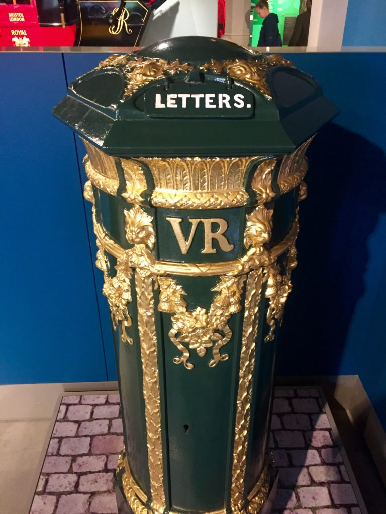 Victorian post box, Postal Museum, London