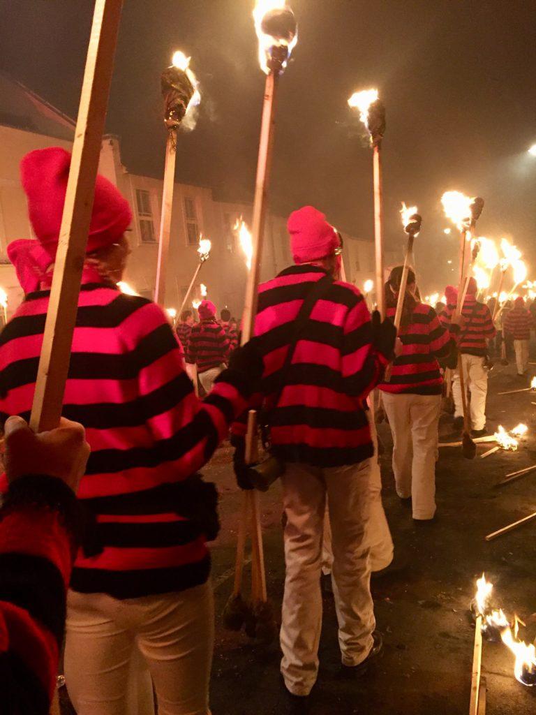 Torches at Lewes Bonfire Night