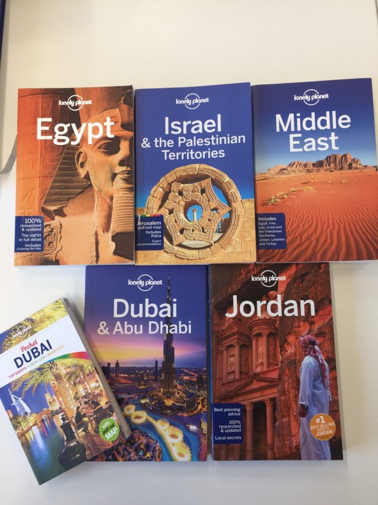 Lonely Planet Middle East guidebooks