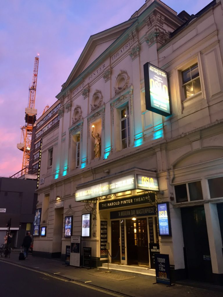 Oslo play at Harold Pinter Theatre, London