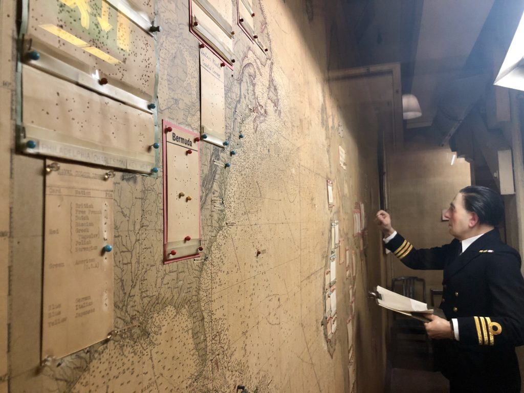 Map Room, Churchill War Rooms, London