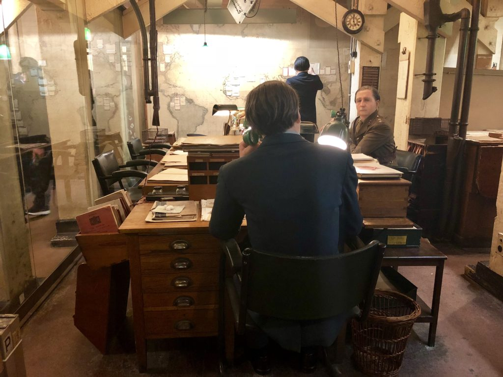 Telephones in Map Room, Churchill War Rooms, London